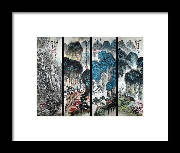Four Seasons Framed Print featuring the photograph Four Seasons In Harmony by Yufeng Wang