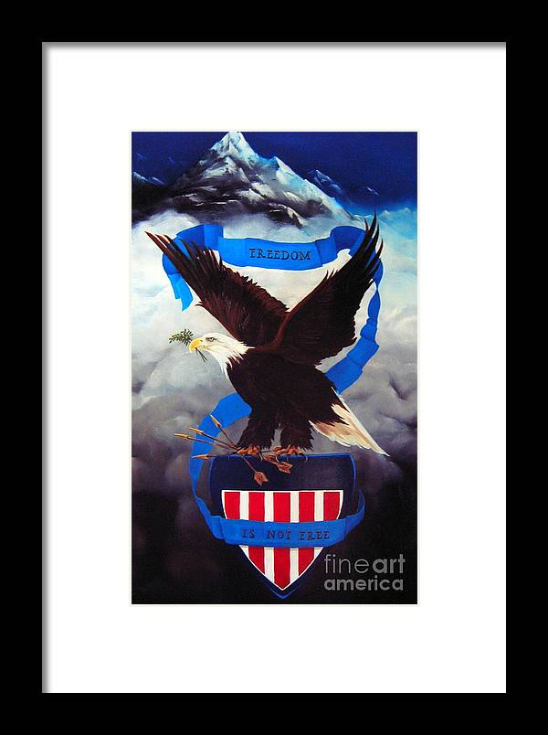Dlgerring Framed Print featuring the painting Freedom by D L Gerring
