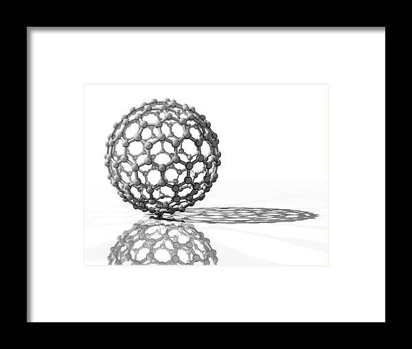 C180 Framed Print featuring the photograph Fullerene Molecule by Laguna Design