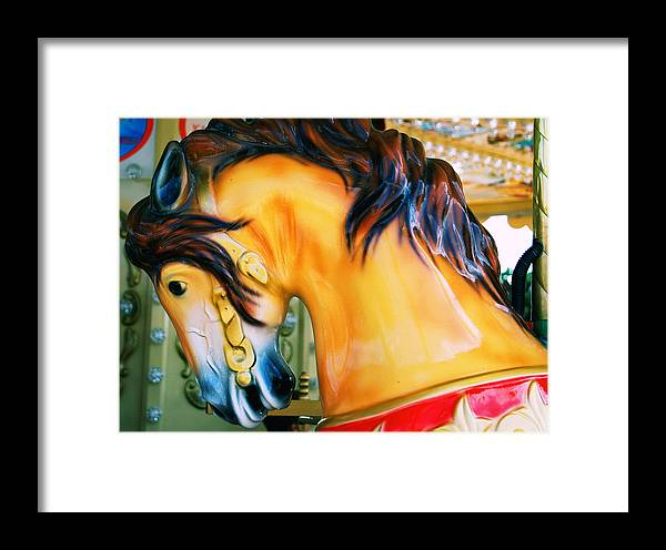 Carousel Framed Print featuring the photograph Paris Galloper  by JAMART Photography