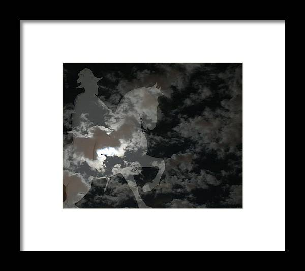 Ghost Rider Framed Print featuring the mixed media Ghost Rider by Ellen Henneke