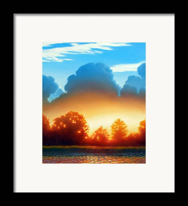 Sunset Framed Print featuring the painting Glowing by Kevin Lawrence Leveque