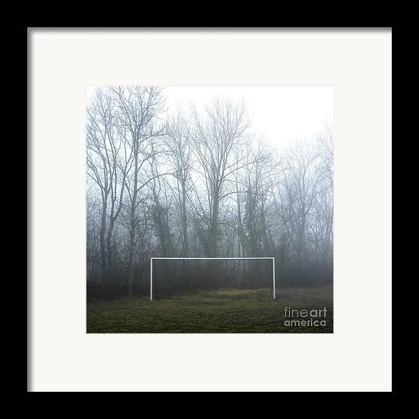 Abandoned Framed Print featuring the photograph Goal by Bernard Jaubert