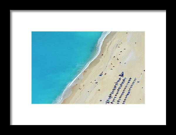 Water's Edge Framed Print featuring the photograph Greece, Ionian Island, Cephalonia by Tuul & Bruno Morandi