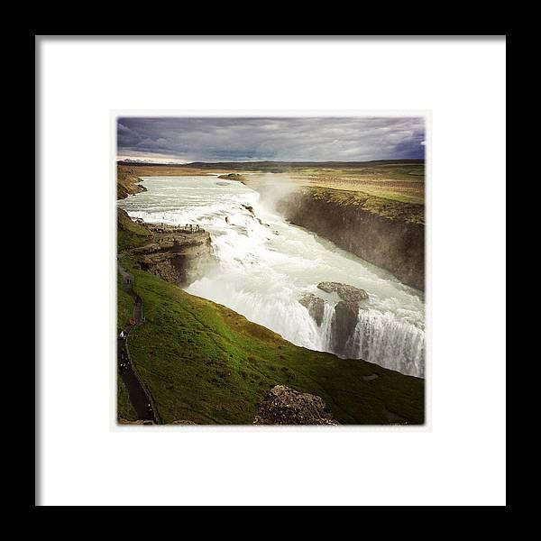 Gullfoss Framed Print featuring the photograph Gullfoss waterfall Iceland by Matthias Hauser