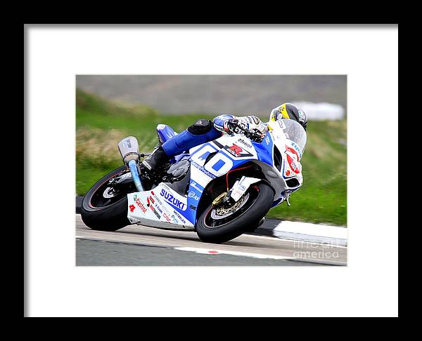 Motorbike Framed Print featuring the photograph Guy Martin by Richard Norton Church