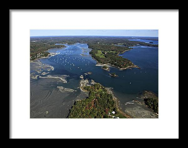America Framed Print featuring the photograph Harraseeket River And South Freeport by Dave Cleaveland