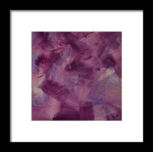 Hidden Face Framed Print featuring the painting Hidden Beauty by Judi Goodwin