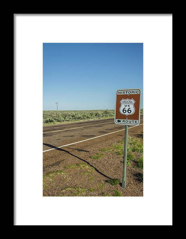 Antique Framed Print featuring the photograph Historic Old Route 66 Passed by Jerry Ginsberg