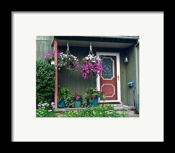 Home Framed Print featuring the photograph Home Sweet Home by Frozen in Time Fine Art Photography