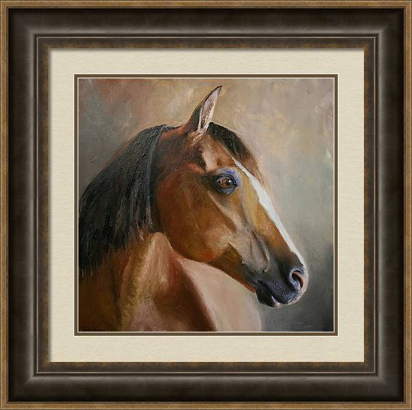 Horse Portrait Framed Print featuring the painting Horse Portrait II by Terri Meyer