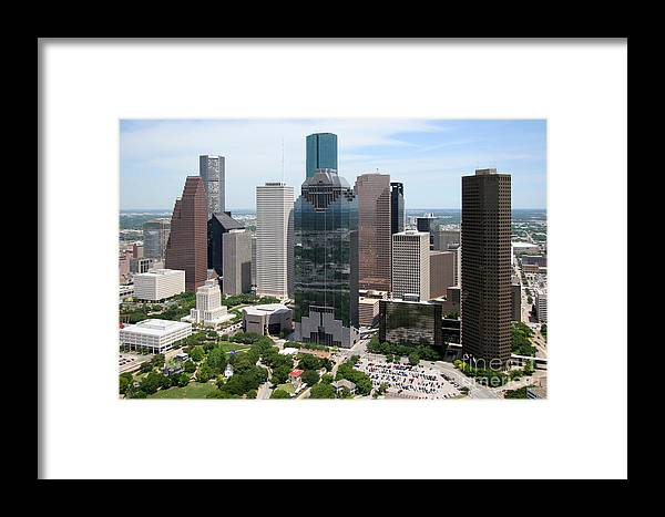 Houston Framed Print featuring the photograph Houston Skyline by Bill Cobb