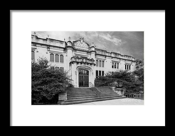 Bloomington Framed Print featuring the photograph Illinois Wesleyan University Buck Memorial Library by University Icons