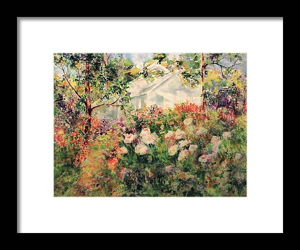 Painting Framed Print featuring the painting Illusions by Sharon K Wilson