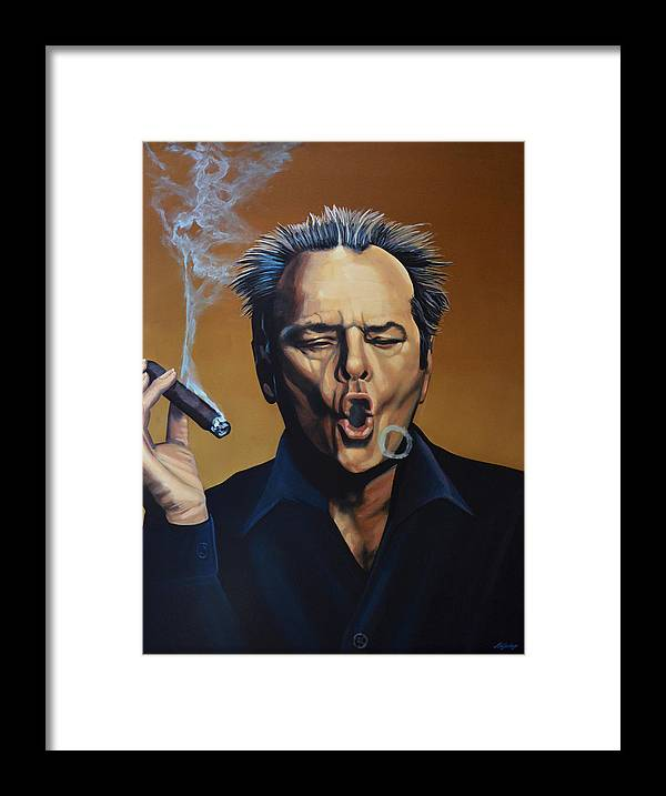 Jack Nicholson Framed Print featuring the painting Jack Nicholson Painting by Paul Meijering