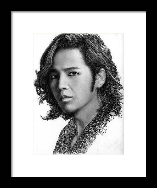 Actor Framed Print featuring the drawing Jang Geun Suk by Carliss Mora