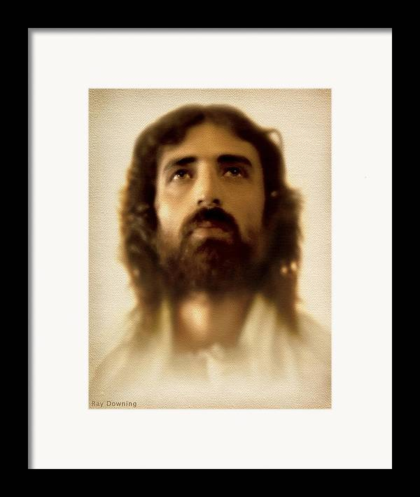 Jesus Framed Print featuring the digital art Jesus In Glory by Ray Downing