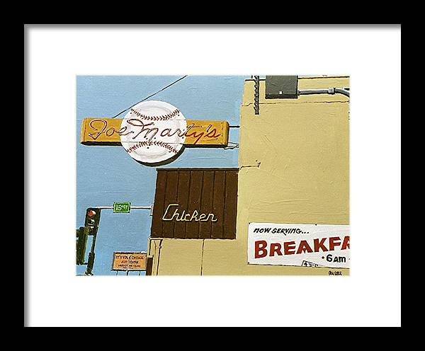 Sacramento Framed Print featuring the painting Joe Marty's by Paul Guyer