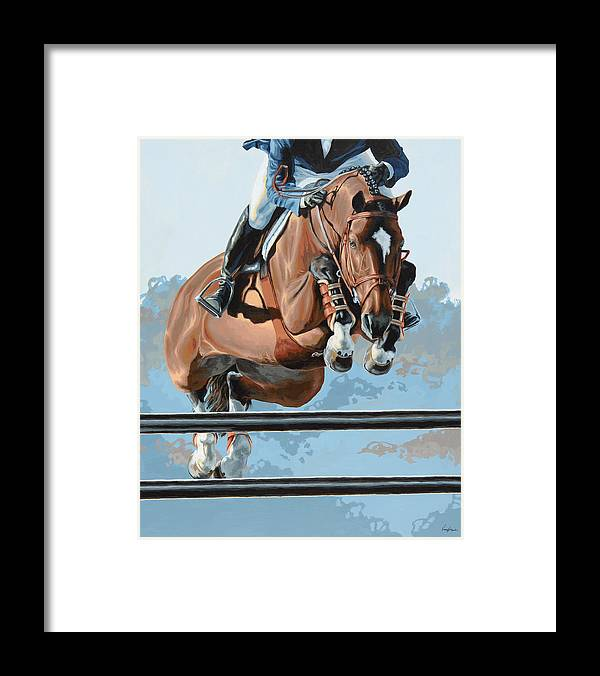 Horse Framed Print featuring the painting High Style by Lesley Alexander
