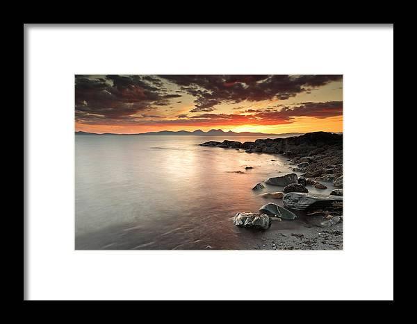 Sunset Framed Print featuring the photograph Jura Sunset by Grant Glendinning