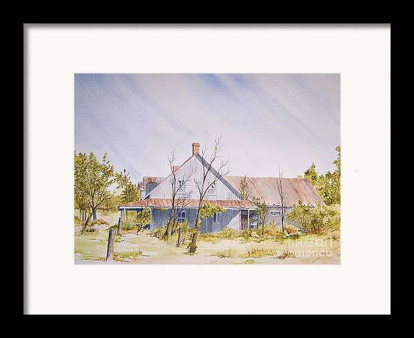 Old House Framed Print featuring the painting Just A Memory by Jackie Mueller-Jones