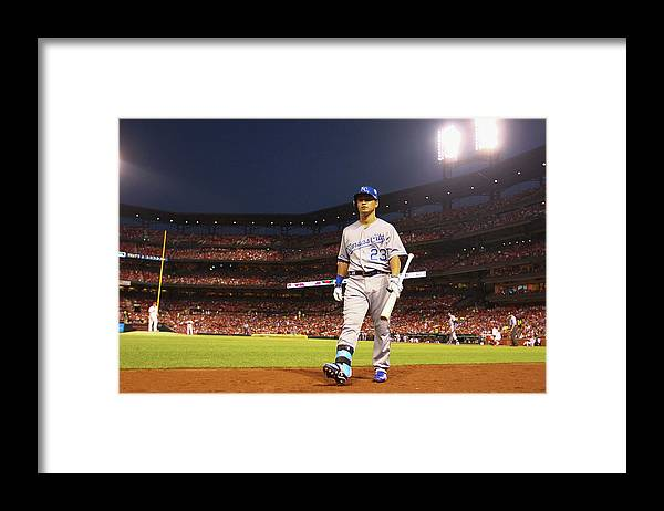 American League Baseball Framed Print featuring the photograph Kansas City Royals V St. Louis Cardinals by Dilip Vishwanat