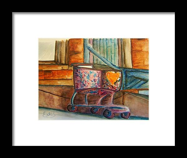 Cart Framed Print featuring the painting Kidnapped Cart by Elaine Duras