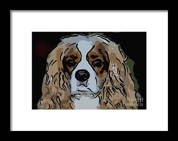 King Charles Framed Print featuring the digital art King Charles Art by Dale Powell