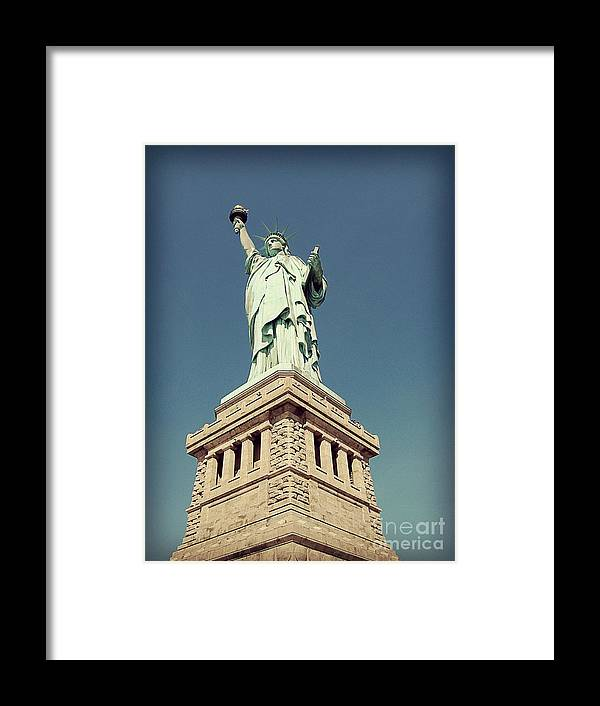 Statue Of Liberty Framed Print featuring the photograph Lady Liberty by Meghan at FireBonnet Art