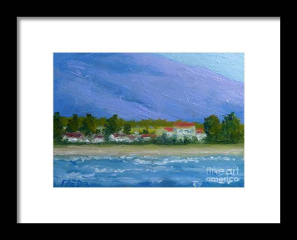 Landscape Framed Print featuring the painting Lahaina Shore by Fred Wilson