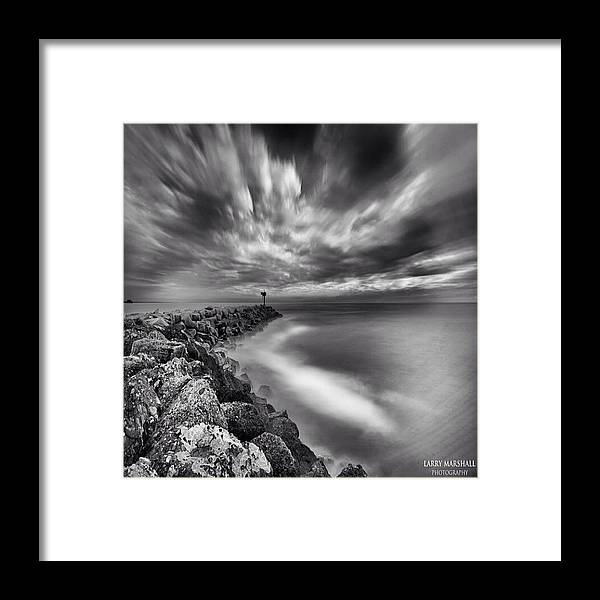 Framed Print featuring the photograph Long Exposure Sunset At The Oceanside by Larry Marshall