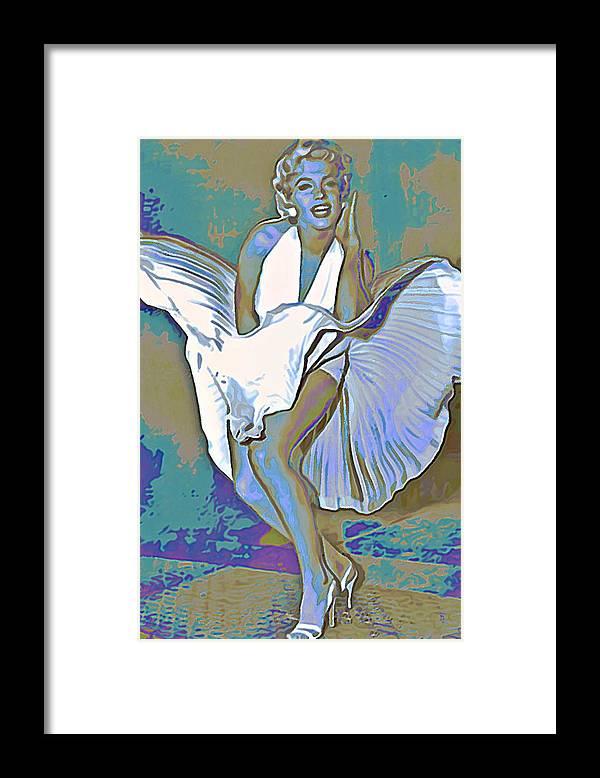 Fli Framed Print featuring the painting Marilyn Monroe by Fli Art