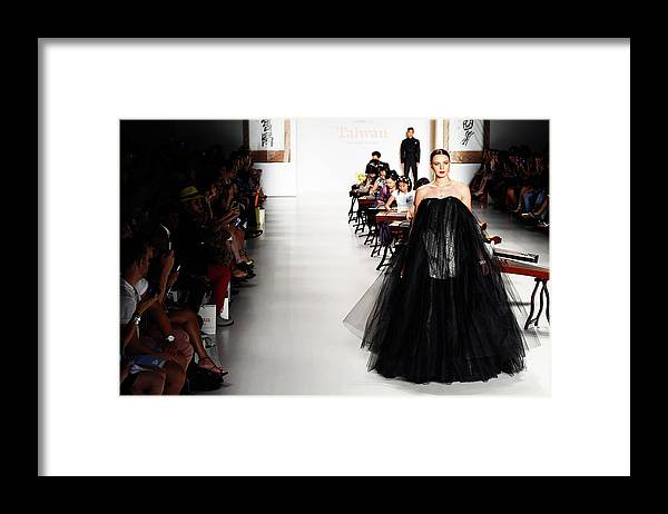 New York Fashion Week Framed Print featuring the photograph Mercedes-benz Fashion Week Spring 2015 by Frazer Harrison