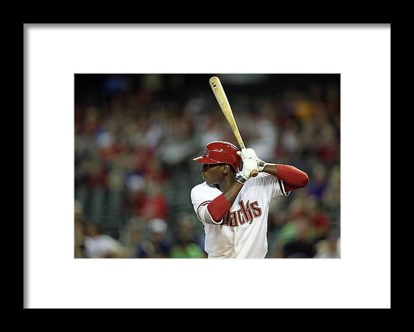 National League Baseball Framed Print featuring the photograph Milwaukee Brewers V Arizona Diamondbacks 2 by Christian Petersen