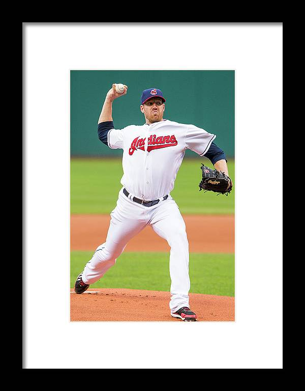 American League Baseball Framed Print featuring the photograph Minnesota Twins V Cleveland Indians 2 by Jason Miller