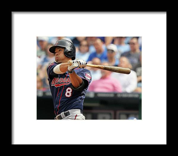 American League Baseball Framed Print featuring the photograph Minnesota Twins V Kasnas City Royals 2 by Ed Zurga