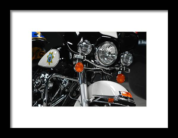 Framed Print featuring the photograph Motorcycle by Beth Sanders