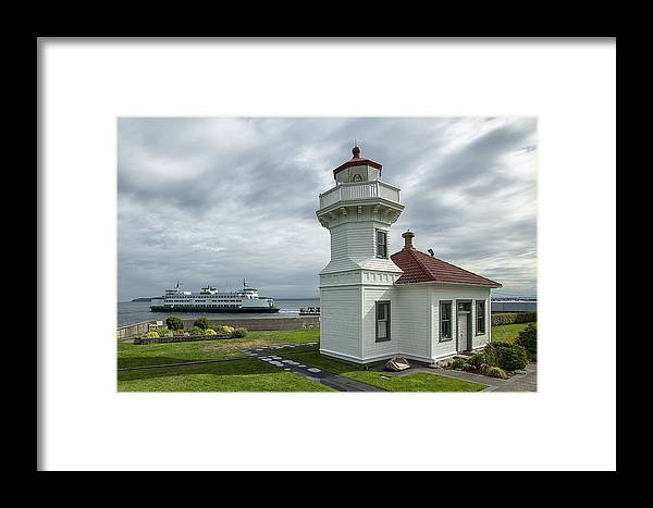 Lighthouse Framed Print featuring the photograph Mukilteo Lighthouse by Bob Stevens