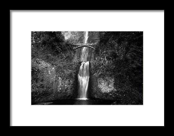Waterfalls Framed Print featuring the photograph Multnomah Falls by Peter Tellone