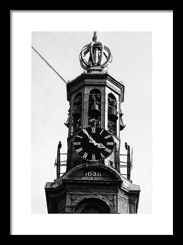 Munttoren Clock Tower Framed Print featuring the photograph Munttoren Clock Tower by Gregory Alan