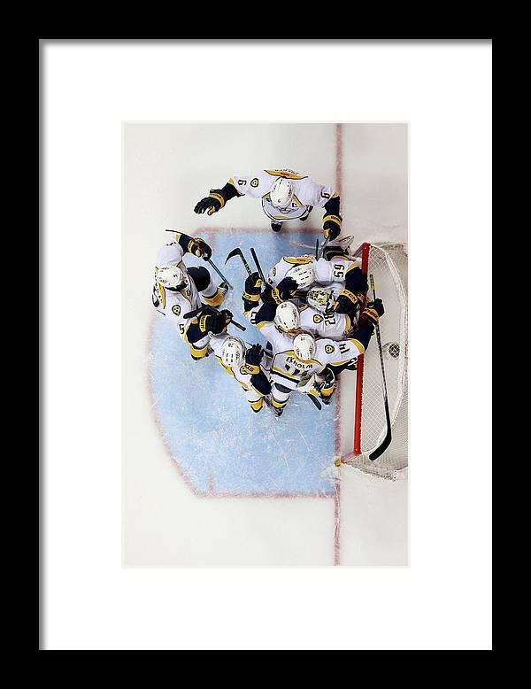Shea Weber Framed Print featuring the photograph Nashville Predators V Anaheim Ducks - by Sean M. Haffey