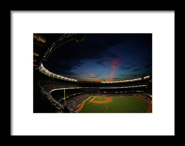 American League Baseball Framed Print featuring the photograph New York Mets V New York Yankees by Al Bello