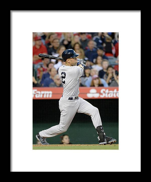Second Inning Framed Print featuring the photograph New York Yankees V Los Angeles Angels 2 by Harry How