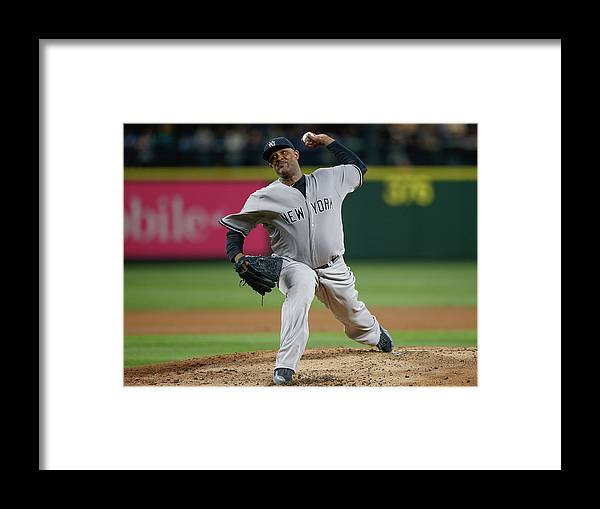 Second Inning Framed Print featuring the photograph New York Yankees V Seattle Mariners by Otto Greule Jr