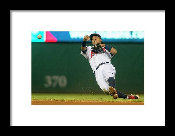 American League Baseball Framed Print featuring the photograph Oakland Athletics V Cleveland Indians 2 by Jason Miller