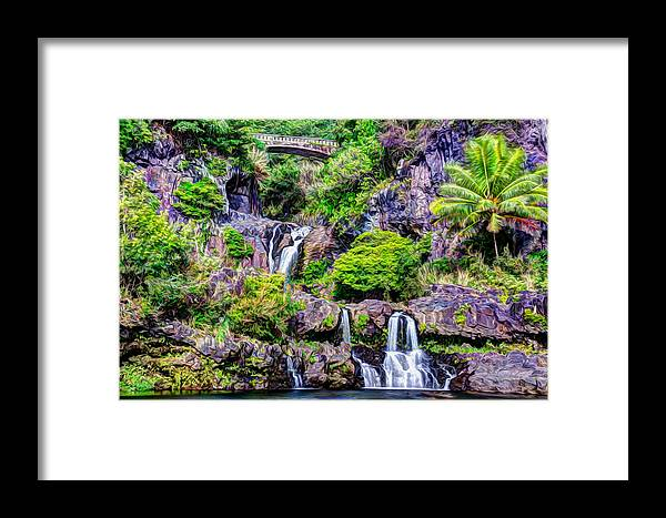Maui Hawaii Framed Print featuring the photograph Oheo Gulch by Tamara Dattilo