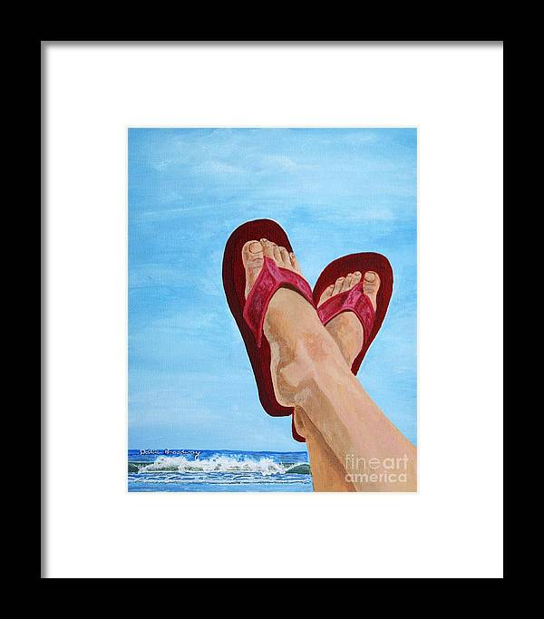 Beach Framed Print featuring the painting On The Beach by Debbie Broadway