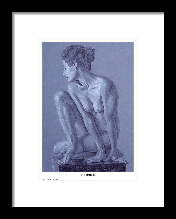 Joe Ogle Framed Print featuring the painting Perched by Joseph Ogle