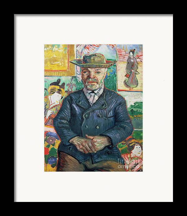 Male Framed Print featuring the painting Pere Tanguy by Vincent van Gogh