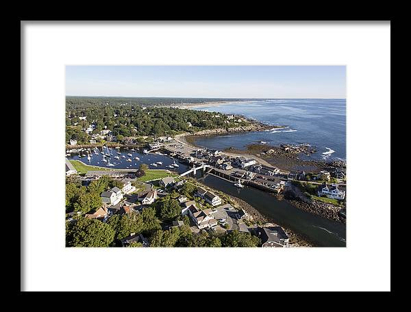 America Framed Print featuring the photograph Perkins Cove, Ogunquit by Dave Cleaveland